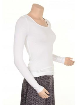 Langarm T-Shirt 1-1309-15 von Noa Noa in White