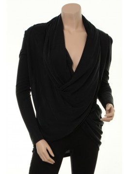 Cupro-Blouse 4478-60 von Nü by Staff-Woman in Schwarz