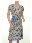 Blumen-Kleid H-211 von Und-Hübsch in Blau