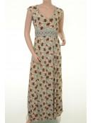 Langes Kleid H-213 von Und-Hübsch in Mint