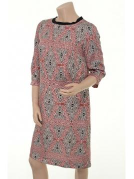 Cupro-Kleid 1-6082-1 von Noa Noa in Print Black