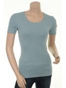 Baumwoll T-Shirt Maren von Sorgenfri Sylt in Sky