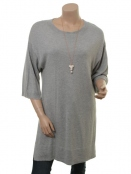 Kleid Celest von Part-Two in Light Grey