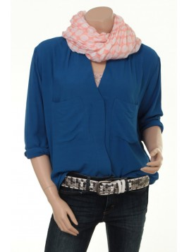 Blouse Fluid Georgette 1-5930-1 von Noa Noa in blue