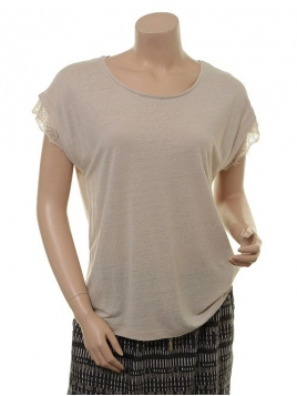 Kurzarm T-Shirt 1-6443-1 von Noa Noa in moonbeam