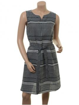Kleid Daria von Part-Two in Artwork Dark Blue