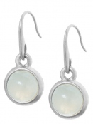 Earrings A047 Aquamarine worn silver von Sence Copenhagen