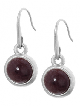 Earrings A049 Purple Aventurine worn silver von Sence Copenhagen