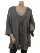 Pullover Evanna von Part-Two in Medium Grey Melange