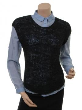 Kurzarm T-Shirt 4971-61 von Nü Denmark in Anthracite Grey