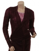 Strickjacke 4971-68 von Nü Denmark in Dark Plum