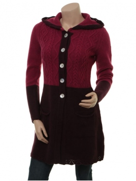 Strickjacke Tia von Sorgenfri Sylt in grape