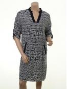 Kleid Cleveland von Part-Two in Artwork Dark Blue