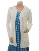 Leinen-Knitwear Waida von Sorgenfri Sylt in Ivory