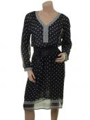 Kleid Geneva von Part-Two in Artwork Dark Blue