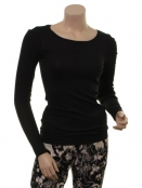 Langarm T-Shirt 1-6236-4 von Noa Noa in Black