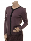 Strickjacke 1-7215-1 von Noa Noa in Purple Melange