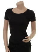 Kurzarm T-Shirt 1-6233-2 von Noa Noa in Black