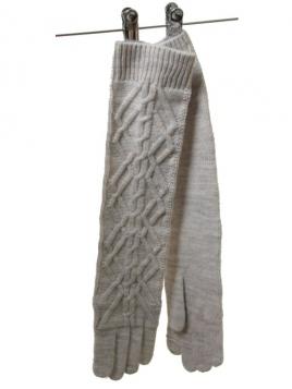 Handschuhe Wolly Knit 1-6775-1 von Noa Noa in Grey Melange