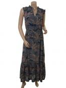 Langes Viscose-Kleid 1-7574-1 von Noa Noa in Print blue