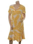 Kleid Hialeah von Part-Two in Artwork Medium Yellow