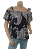 Blouse Hurlie von Part-Two in Artwork Dark Blue