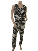Viscose-Jumpsuit Hildie von Part-Two in Artwork Black