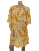 Kleid Dionysie von Part-Two in Artwork Medium Yellow