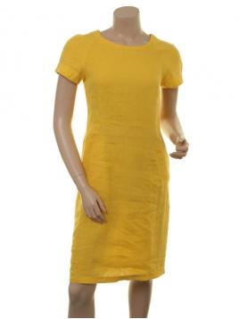 Leinen-Kleid Aundreas von Part-Two in Sulphur