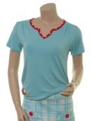Kurzarm T-Shirt Petra Strawberry von Du Milde