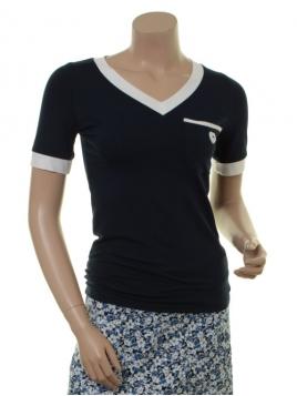 Kurzarm T-Shirt Trinnis von Du Milde in Blau