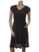 Spitzen-Kleid Meta von Sorgenfri Sylt in Anthrazite