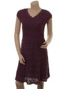 Spitzen-Kleid Meta von Sorgenfri Sylt in Plum