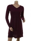 Kaschmir-Knitwear-Kleid Osrun von Sorgenfri Sylt in Plum
