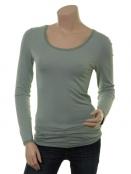 T-Shirt langarm (1-6232-5) in vintage indi von Noa Noa in Green Milieu
