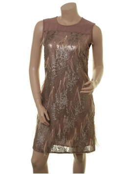 Glitzer-Kleid Blix von Part-Two in Nougat