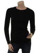 Langarm T-Shirt Bamaja von Part-Two in Black