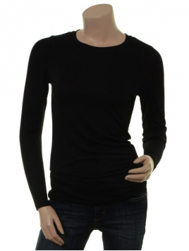 Langarm T-Shirt Bamaja von Part-Two in Black