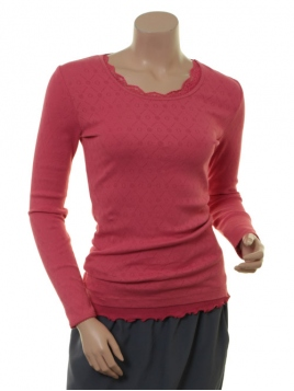 Langarm T-Shirt Malin von Sorgenfri Sylt in Coral