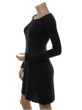 Kaschmir-Knitwear-Kleid Osrun 18-080-310 von Sorgenfri Sylt in Night