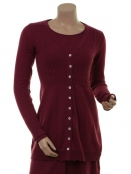 Strickjacke Rebekka 18-081-561 von Sorgenfri Sylt in raspberry