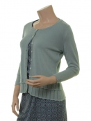 Strickjacke Leoni 18-107-301 von Sorgenfri Sylt in misty green
