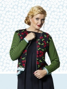 Strickjacke Bonnies Cherry Black von Du Milde