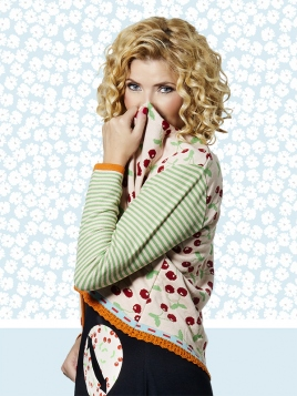 Strickjacke Bonnies Cherry Peach von Du Milde