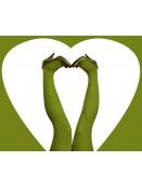 Strumpfhose Stromper Parrotgreen von Du Milde in parrotgree