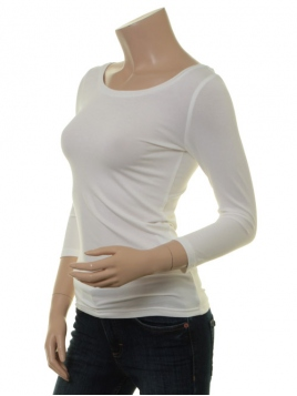 Langarm T-Shirt Trinis von Du Milde in white