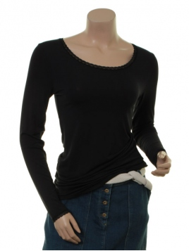 T-Shirt Langarm 1-6232-8 von Noa Noa in Black