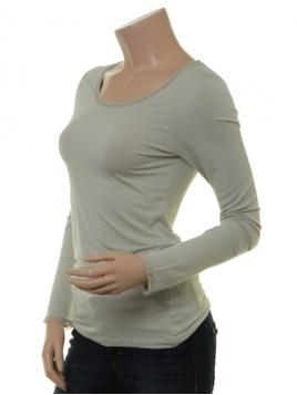 Langarm T-Shirt 1-6232-8 von Noa Noa in mineral gray