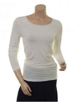 Langarm T-Shirt 1-6232-8 von Noa Noa in cloud dancer