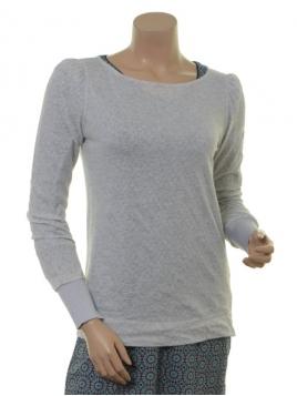 Langarm T-Shirt 1-8334-1 von Noa Noa in light grey melange